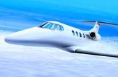 Private white jet — Foto Stock