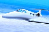 Witte privéjet — Stockfoto