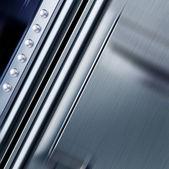 Struttura del metallo con rivetti — Foto Stock