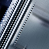 Texture métallique avec rivets — Photo