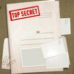 Top secret folder — Stock Photo