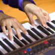 Hands of pianist - Stock Photo