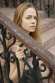 Sad beautiful face of woman — Stock Photo