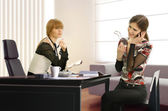 Businesswomen in the office — Foto Stock