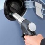 gas en el coche — Foto de Stock