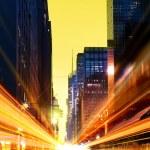Современный городской города в ночное время — Стоковое фото