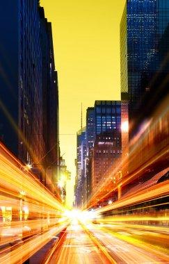 Modern urban city at night time