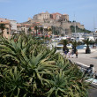 Stock Photo: Mediterraneseaside city - Corsica