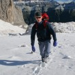 Stock Photo: Winter sport - mountain climbing