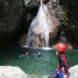 Adrenalin sport - Canyoning — Stock Photo
