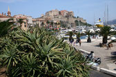 Mediterranean seaside city - Corsica — Stock Photo