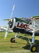 小型飞机在草地上 — 图库照片