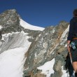 Climber in the Alps — Stock Photo