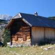 Stock Photo: Log cabin in mountains