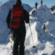 Winter mountaineering — Stockfoto