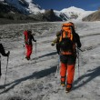 Stock Photo: Glacier trekking