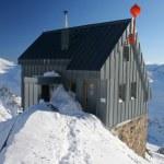 Mountain hut in winter — Stock Photo
