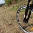 Downhill biking — Stock Photo