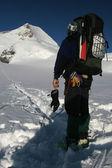 Alpine trekking — Stock Photo