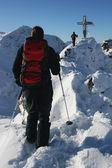 Winter mountaineering — Stock Photo