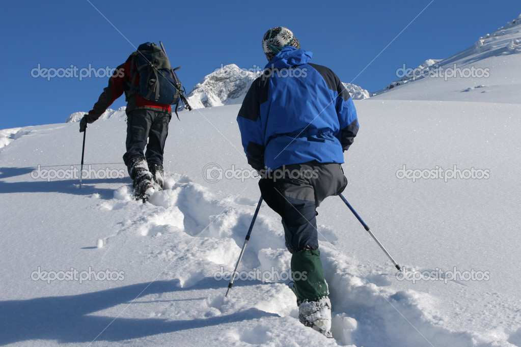 Snowshoe trip — Stock Photo #2305898