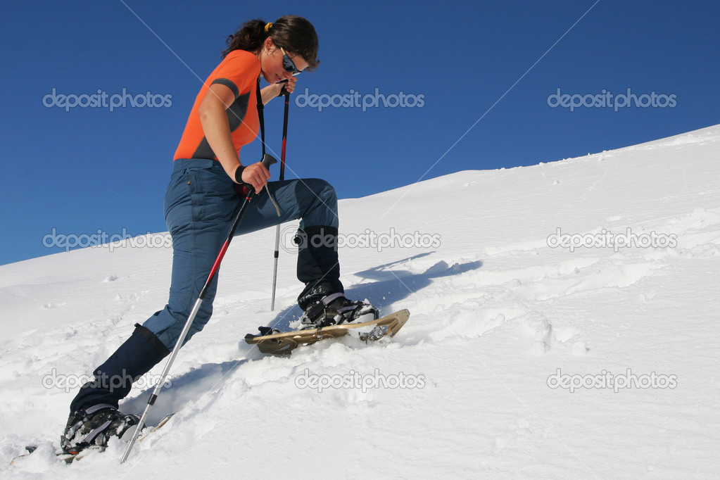 Snowshoe trip — Stock Photo #2306931