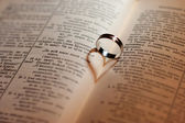 Ring with book — Stock Photo