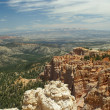 Red rock formation in bryce canyon park — Stock Photo
