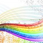 Notes rainbow — Stock Vector