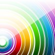 White rainbow — Stock Vector