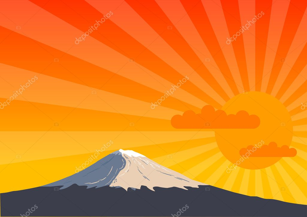 High mountain by the sunshine. — Stock Vector #2590560