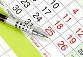 Calendar, planning — Stock Photo