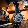 Chronograph, compas and map — Stock Photo #2262670