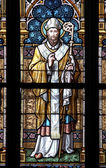 Saint - stained window — Stock Photo
