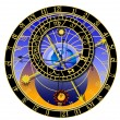 Astronomical clock - vector — Stock Vector