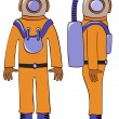 Deep-sea diver - vector - Stock Vector