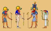 Deuses egípcios — Vetor de Stock