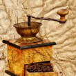 Coffee mill and beans in grunge style — Stock Photo #2278773