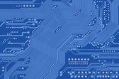 Printed circuit - motherboard - vector — Vector de stock