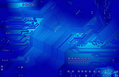Printed circuit in blue — Stockvector