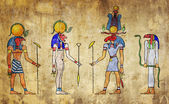 Egyptian gods — Stock Photo