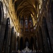 Middle aisle od St Vitus cathedral - Stock Photo