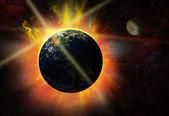 Solar flare — Stock Photo