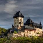 Karlstejn - large gothic castle — Stock Photo