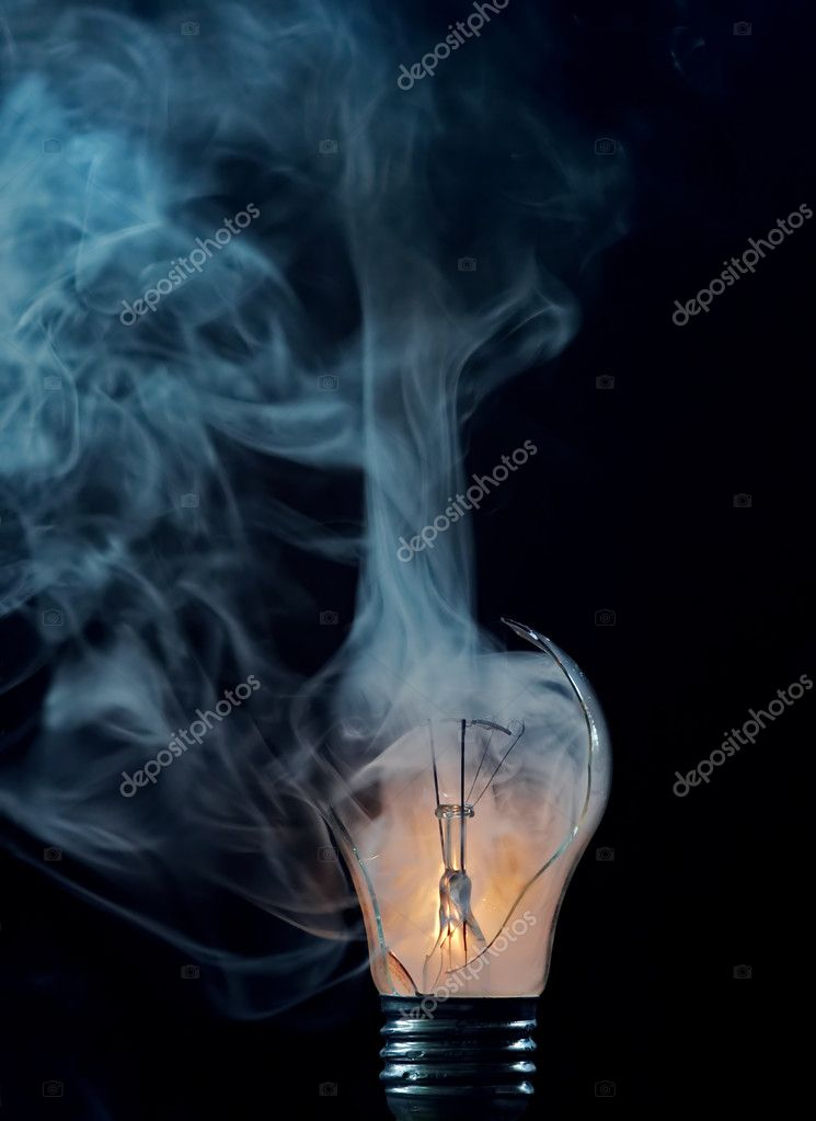 Detail of a cracked bulb — Stock Photo #2396647