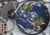 Whole world in the hard disc — Stock Photo