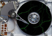 Storm on the hard disc - fault - failure — Stock Photo
