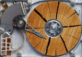 Very old hard disk — Stock Photo