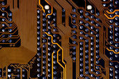 Labyrinth - printed circuit - motherboard — Stock Photo