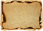 Antigo papel com bordas queimadas — Foto Stock